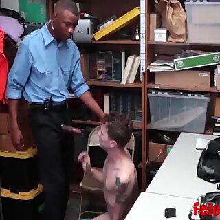 Every Shoplifter Has A Gay BBC Cop Waiting To Punish Him
